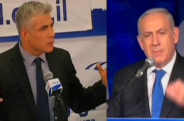 Netanyahu and Lapid post-election broadcast