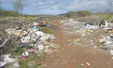 Landfill on San Cristobal Island.