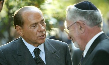 Silvio Berlusconi meets Amos Luzzatto, September 17, 2003