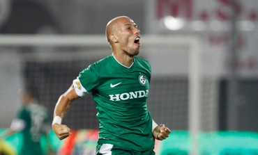 MACCABI HAIFA defender Edin Cocalic had every reason to celebrate.