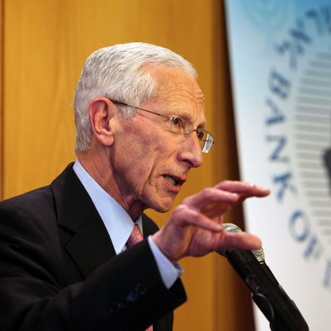 Bank of Israel Governor Stanley Fischer following his resignation, January 30, 2013.