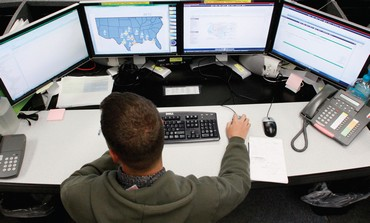 Network defender at the US Air Force Space Command Network Operations & Security Center.