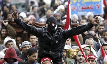 Protesters at Tahrir Square, February 1, 2013.