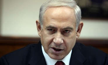 Prime Minister Binyamin Netanyahu at weekly cabinet meeting, February 3, 2013.