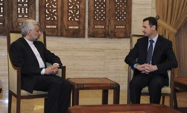 Syrian President Assad meets Iran's Supreme National Security Council Secretary Jalili, Feb 1, 2013.