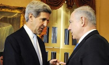 Netanyahu, Kerry at the US Capitol, March 23, 2010.