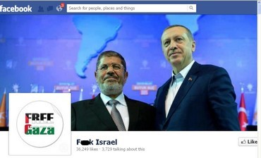F**k Israel Facebook page, February 4, 2013.