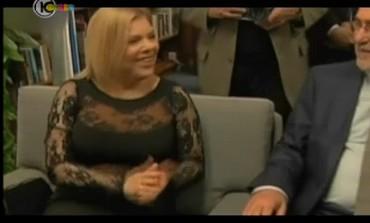 Sara Netanyahu at the swearing-in ceremony, February 5, 2013.