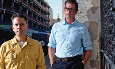 Joey Burns (left)  with Calexico co-founder John Convertino