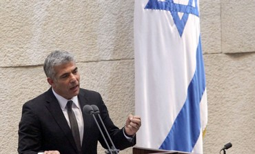Yair Lapid makes first speech before Knesset, Feb 11