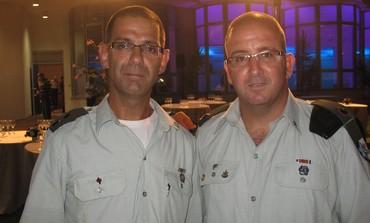 Maj. Levi Itah (R) and Lt.-Col. Ilan Itah