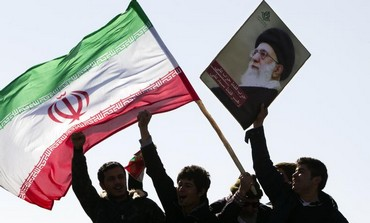 Demonstrators wave Iran