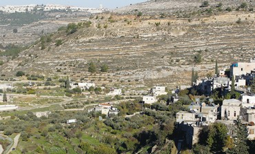 TERRACED AGRICULTURAL fields dot the landscape near Battir, a Palestinian village outside of J'lem
