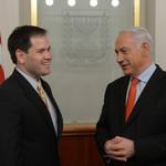 Prime Minister Benjamin Netanyahu meets with Senator Marco Rubio, February 20, 2013.