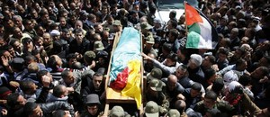 Funeral procession for Palestinian prisoner Arafat Jaradat who died in Megiddo Prison