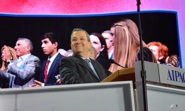 Ehud Barak on the opening night of AIPAC's annual conference, March 4, 2013.