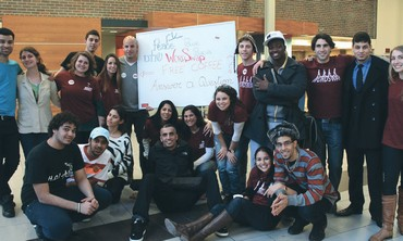 A GROUP of Israeli students pose for a photo at Carleton University in Ottawa, Canada