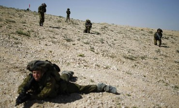 IDF reserve soldiers drill, March 7, 2013.