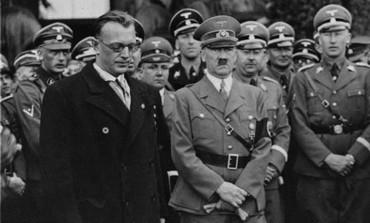 Adolf Hitler with Arthur Seyss-Inquart, Chancellor of Austria  in Vienna, March 1938.