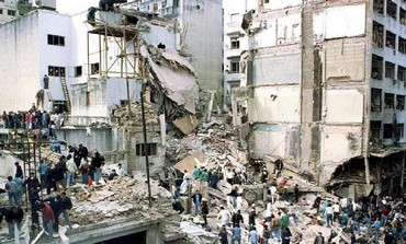 Bombing of Argentine Israeli Mutual Association (AMIA), killing 85 people, in July 18, 1994