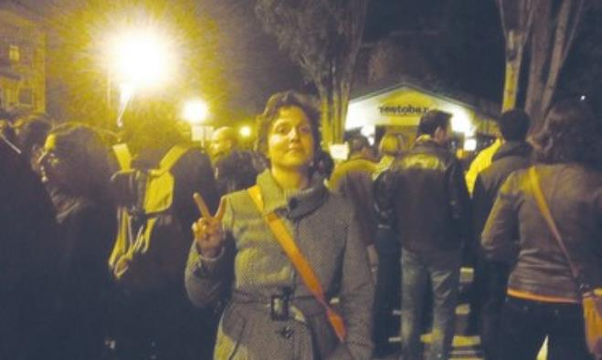 TZAPHIRA STERN, activist and member of Meretz who arranged the Monday night protest.