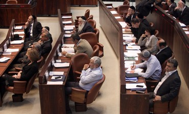 Knesset MKs at plenum, March 18, 2013.
