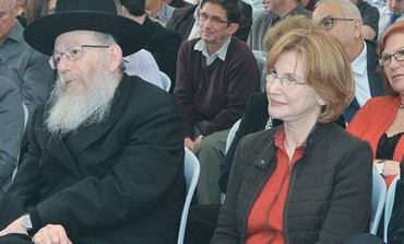 HEALTH MINISTER Yael German sits next to Ya'acov Litzman
