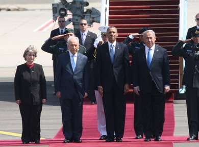 US President Barack Obama lands in Israel