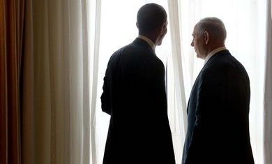 Obama and Netanyahu share a quiet moment