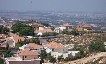 View from the high point of the Alfe-Menashe settlement in the Israeli area of the West Bank.