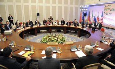 World powers and Iran at nuclear talks in Almaty April 6, 2013