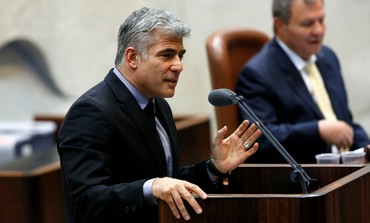 Finance Minister Yair Lapid speaking at the Knesset, April 22, 2013.
