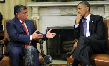 US President Barack Obama and Jordan's King Abdullah April 26, 2013