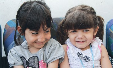 TWO OF the three recently-arrived Iraqi-Kurdish children scheduled for heart surgery