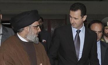 Hezbollah leader Hassan Nasrallah and Syrian President Bashar Assad.