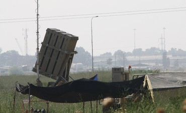 Iron Dome rocket defense battery [file]