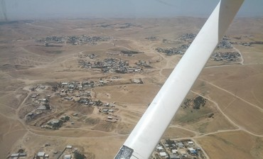 View of illegal beduin settlements