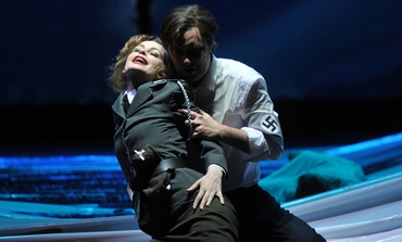 """Deutsche Oper am Rhein production of Richard Wagner's """"Tannhauser"""" at the Dusseldorf Opera House."""