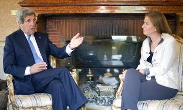 US Secretary of State John Kerry Justice Minister Tzipi Livni in Rome May 8, 2013.