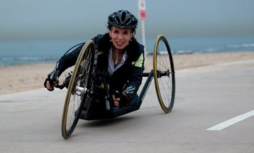 Pascale Bercovitch, an Israeli handcyclist .