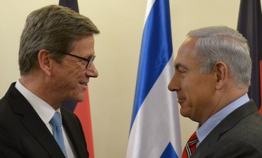 German Foreign Minister Guido Westerwelle and Prime Minister Binyamin Netanyahu, May 17, 2013.
