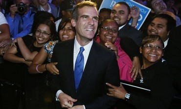LA mayoral race winner Eric Garcetti