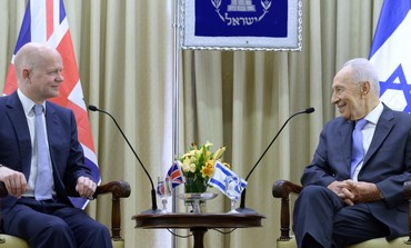 President Peres and British Secertary of State William Hague, 24th May, 2013