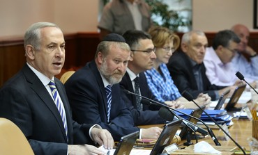 Prime Minister Binyamin Netanyahu at weekly cabinet  meeting, June 2, 2013