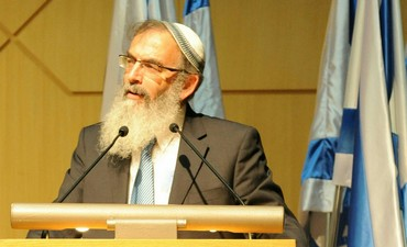Rabbi David Stav at the Knesset