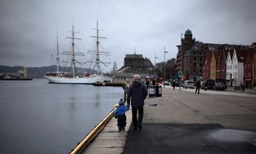AN IDYLLIC scene in downtown Bergen, Norway.