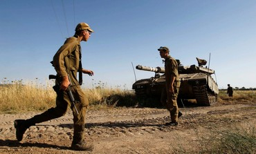 IDF tank soldiers in the Golan Heights.