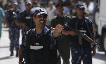 A Palestinian Authority policeman.