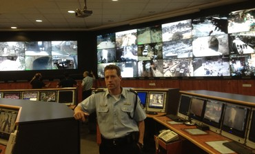 Micky Rosenfeld poses in Old City's police headquarters near Jaffa Gate, June 18, 2013.