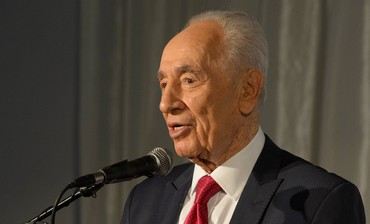 President Shimon at a building dedication at The Hebrew University of Jerusalem June 18, 2013.